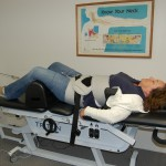 Photo of Triton DTS table with Patient