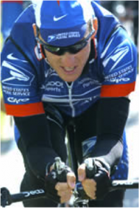 Photo of Lance Armstrong on bike